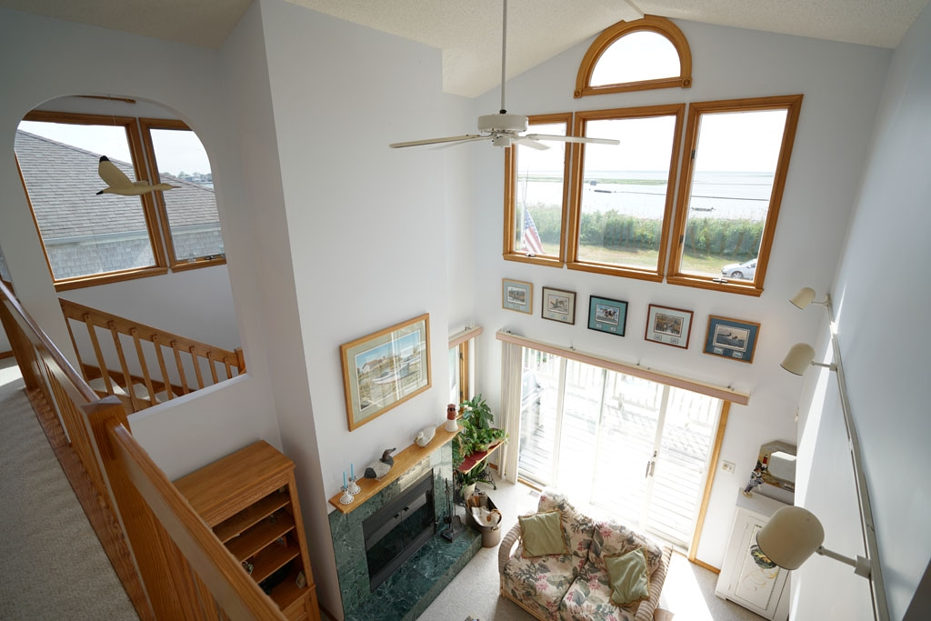 View from upper living area