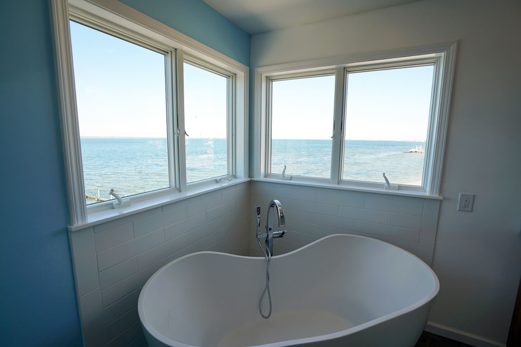 Soaking Bathtub with a View