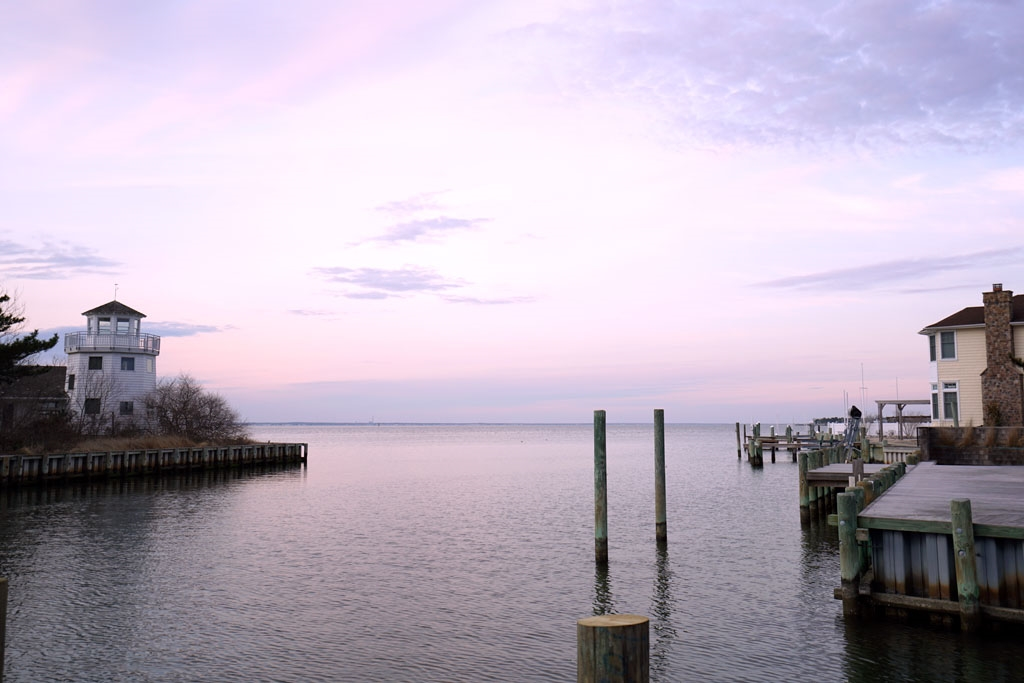 View of Bay at Sunset
